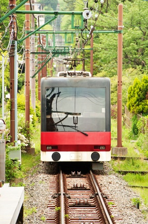 tramcar: Tramcar on mountain at Japan.