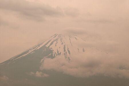 Fuji mountain on the close sky. photo