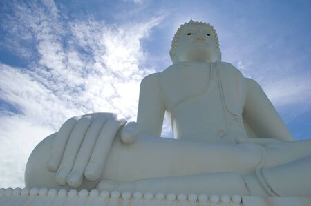 The beautiful Buddha on mountain, Northeast, Thailand.