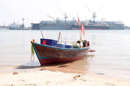 The eastern part of the Thai fishing boat.