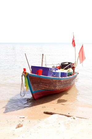 The eastern part of the Thai fishing boat. photo