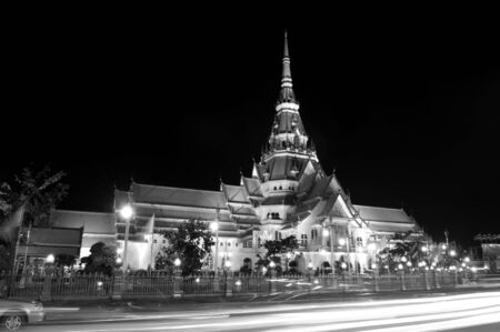 The temple beautiful and modern at Eastern, Thailand. Stock Photo