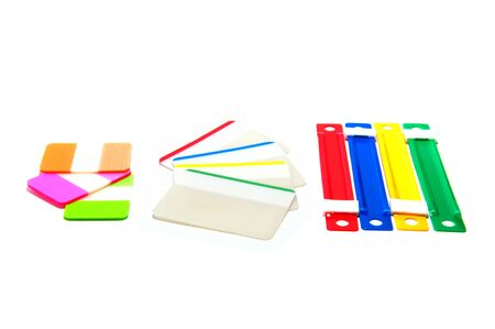 Stationary for office on isolate background.