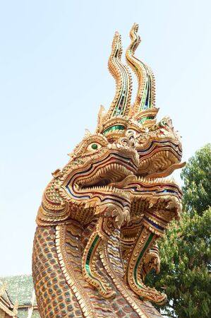 glod: Thai dragon statue, Northern, Thailand.