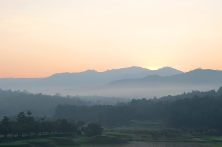 Morning fog in Northern Thailand. Stock Photo - 12390946