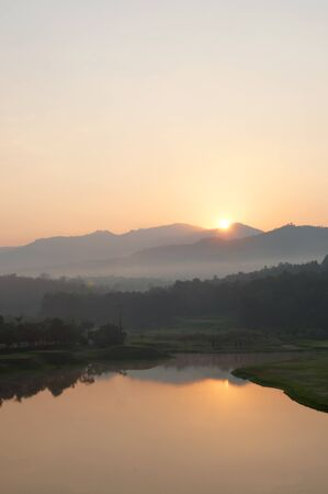 Sunrise Golf Course in northern Thailand. Stock Photo - 12390947