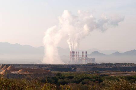 Lignite power plants. Northern Thailand. photo