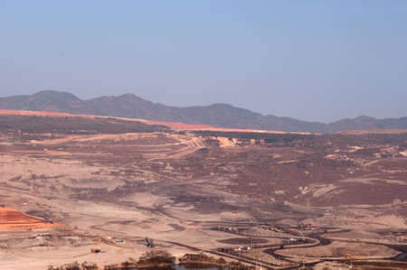 Coal mine in northern Thailand  Stock Photo