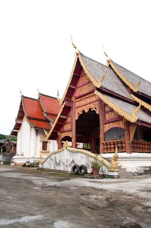 Temple form wood, Northern, Thailand. Stock Photo