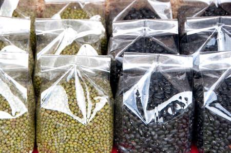 Bean varieties in northern Thailand. Stock Photo