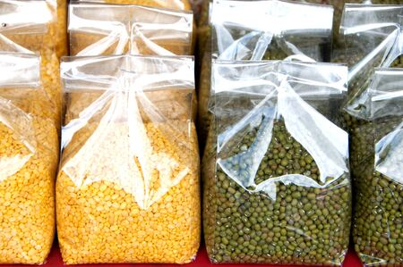 Bean varieties in northern Thailand. Stock Photo