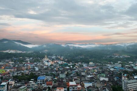 southern of thailand: Good morning at small city, Southern, Thailand