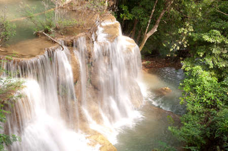A beautiful waterfall in Thailand  Stock Photo