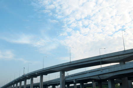 Modern bridge in the morning, Thailand  Stock Photo