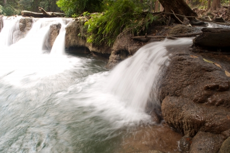 Nature of beautiful waterfall at Thailand