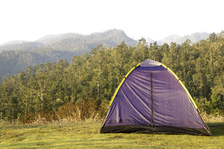 Tent for travel on mountain  photo
