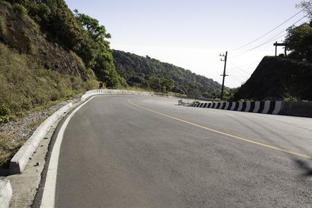 Asphalt road on mountain in Thailand  Stock Photo