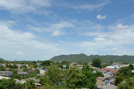 Nice sky and comunity at contryside, Thailand. Stock Photo