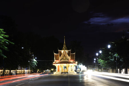 The City Pillar at countryside of Thailand. Stock Photo