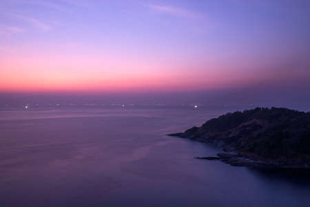 southern thailand: Sunset and sea, Southern, Thailand.