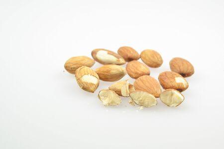 Almonds nut on isolated background. Stock Photo