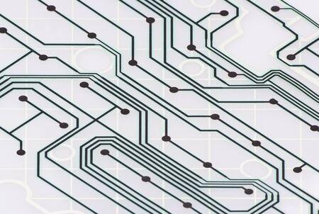 Print Circuit Board of Keyboard. Stock Photo