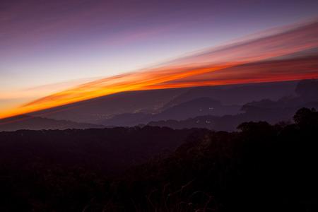Beautiful sky on twilight time.