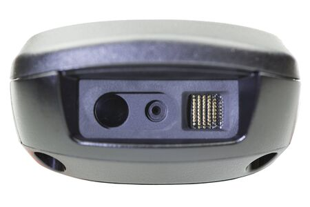 Closeup 1D and 2D Scanner Barcode.
