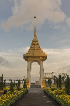 Simulates Model Crematorium for Thai Royal at Southern of Thailand. Banco de Imagens