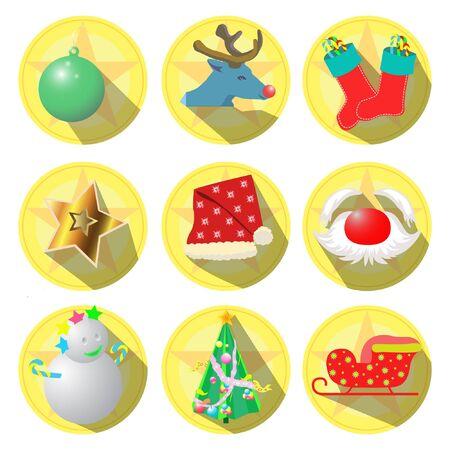 Icon Christmas theme vector illustration Ilustracja