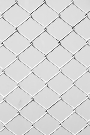 Border Chainlink fence in black and white