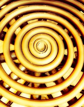 woven: Concentric Circular Design  Stock Photo