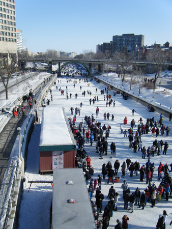 rideau canal: skating at Rideau Canal