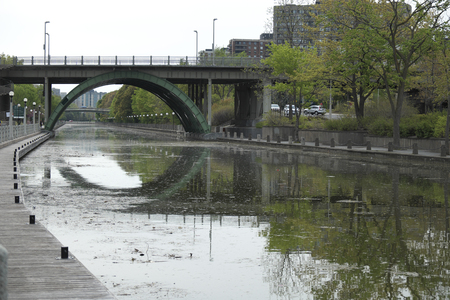 rideau canal: Rideau canal in Downtown Ottawa Ontario on May 21, 2016.