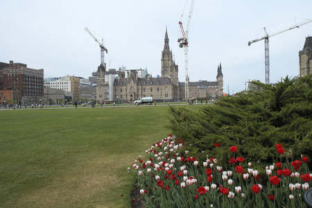 West Block was renovating at Parliament Hill in Downtown Ottawa Ontario on May 21, 2016.