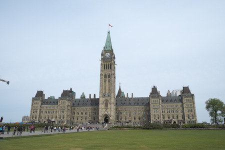 parliament Hill in Downtown Ottawa Ontario on May 21, 2016. Editorial