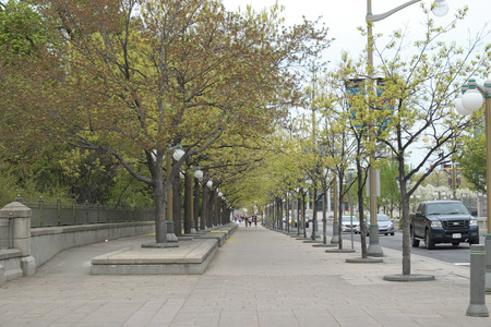 majors: sidewalk in front of Majors Hill Park in Downtown Ottawa Ontario on May 21, 2016
