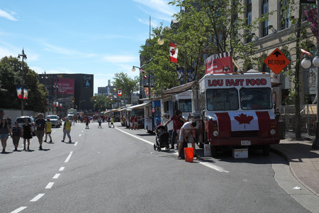 Canada day July 1, 2016 in Downtown Ottawa Ontario