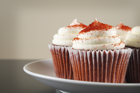 red velvet cupcake: red velvet cupcake Stock Photo