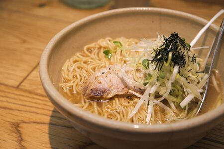 grilled pork noodle with soup