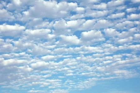 Altocumulus clouds on a beautiful spring day in Florida.