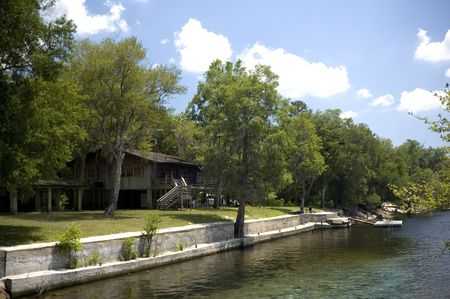 A river house next to the Suwannee River.