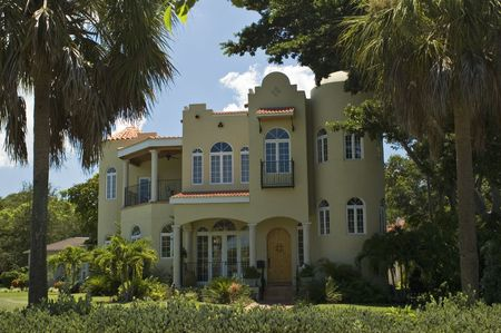 mediterranean home: Luxury Mediterranean-style home in St. Petersburg, Florida Stock Photo