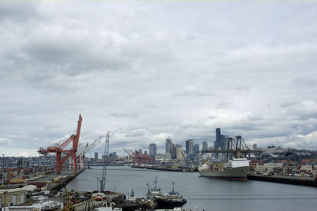 The Port of Seattle is a busy place.
