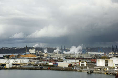 tacoma: A processing plant at the Port of Tacoma, Washington.