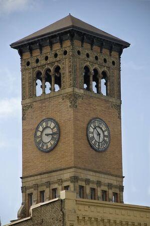 tacoma: The old broken clock on the Tacoma, Washington City Hall clock tower.