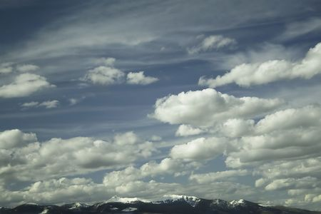 The big sky in Montana near the town of Butte.