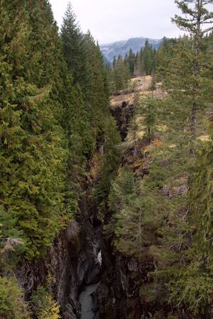 dropoff: Box Canyon, Cowlitz River, Mount Rainier National Park, Washington