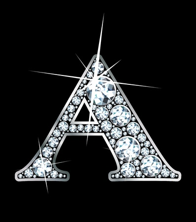 diamond letters: a stunning beautiful diamond a