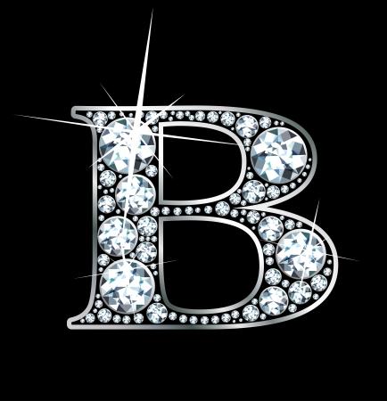 """멋진 아름 다운 다이아몬드 """"B"""" 스톡 콘텐츠 - 10213663"""
